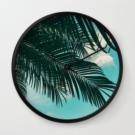 Tropical Palms #palm tree Wall Clock