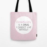 creativity Tote Bags featuring Creativity by Tara Reid