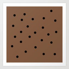 Chocolate Chocolate Chip Art Print