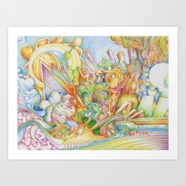 color drop Art Print