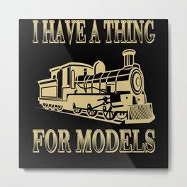 Railway Locomotive Model Railway Train Metal Print