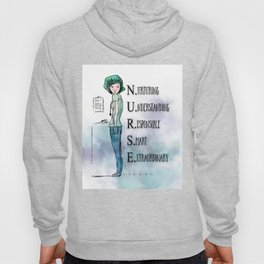 Nurse with Stethoscope Hoody