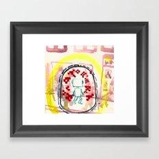 Angry aura-migraine Framed Art Print