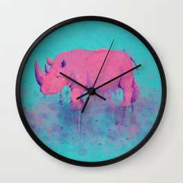 Save the Rhinos Wall Clock