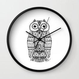 Doodle Owl Wall Clock