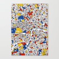 mondrian Canvas Prints featuring London Mondrian by Mondrian Maps
