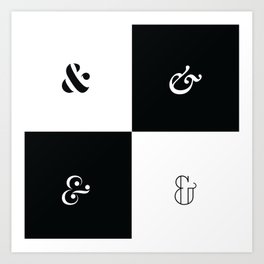 For the Love of Ampersand #1 Art Print