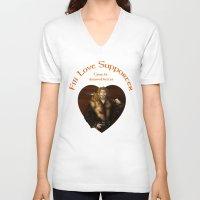 fili V-neck T-shirts featuring Fili Love Supporter by wolfanita