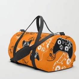 Video Game Orange Duffle Bag
