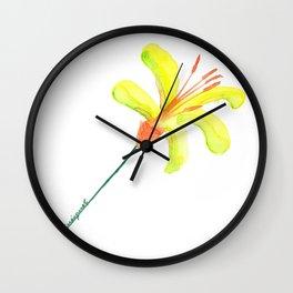 flor de cítrico Wall Clock
