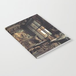 The Library In The Palais Dumba 1877 by Rudolf von Alt | Reproduction Notebook