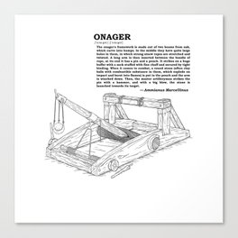 Onager Sketch [Black] Canvas Print
