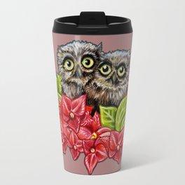 Baby Owls on a Branch Travel Mug