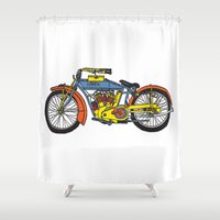 indian Shower Curtains featuring Indian by Superlust