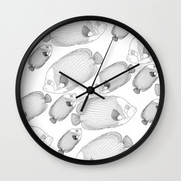 Emperor Fish Patterns Wall Clock