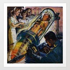 Vintage Sci-Fi (Science Fiction) Illustration Art Print