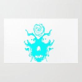 Rorscach blue Rug