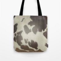 cow Tote Bags featuring Cow by Eva Nev