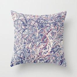 Digital Pollocks Throw Pillow