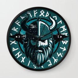 Viking Odin with Hugin and Munin Wall Clock
