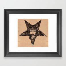 Lady of the Dark Star (coffee) Framed Art Print
