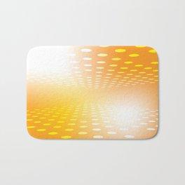 YELLOW DOTS Abstract Art Bath Mat