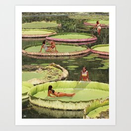 Valley of the Lily Art Print