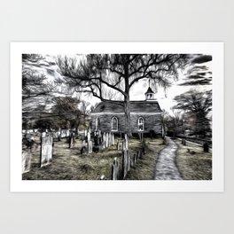 Sleepy Hollow Church Art Art Print