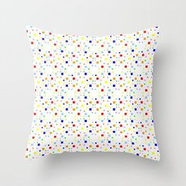 square and tartan 16 multicolor Throw Pillow