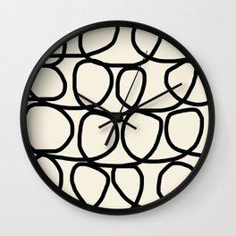 Loop Di Doo Cream & Black Wall Clock