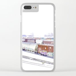 Cold Trains Clear iPhone Case
