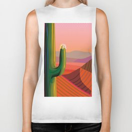 Flowering Saguaro Sonora Biker Tank
