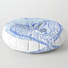 ice wolf Floor Pillow