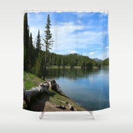 Serene Yellowstone River Shower Curtain