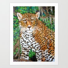 Mesmerizing Jaguar Art Print