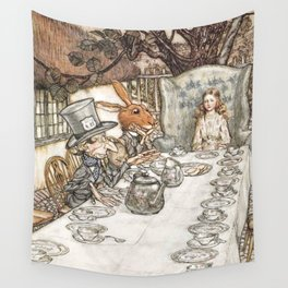 Arthur Rackham The Mad Tea Party 1907 Mad Hatter Hare Alice Wall Tapestry