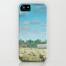 Field of Hay iPhone Case