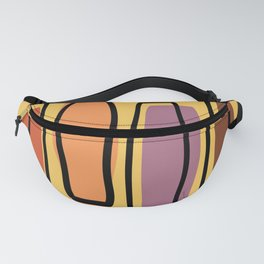 Retro Atomic Abstract Art 'Pillars' Fanny Pack
