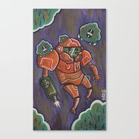 samus Canvas Prints featuring Samus by Matt Sinor