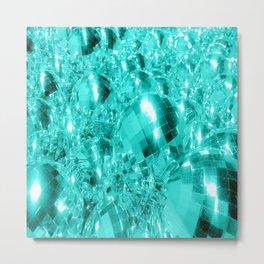 Aqua Blue Ornaments Metal Print