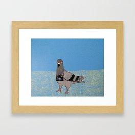 Spy Pigeon Framed Art Print
