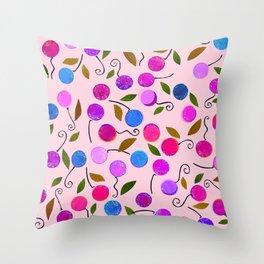 cherry-berrie jumble ... Throw Pillow