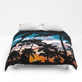 Palm trees dream Comforters