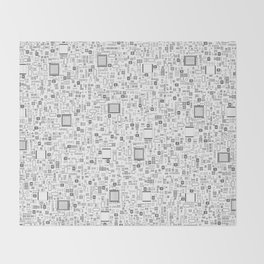 All Tech Line / Highly detailed computer circuit board pattern Throw Blanket