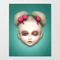 misfits Canvas Prints featuring Misfits - Hildi by Raymond Sepulveda