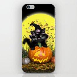 Pumpkin Kitty iPhone Skin
