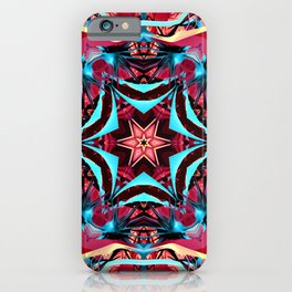 Fractal Art - Pink Kaleidoscope iPhone Case