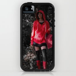 red in the hoodie iPhone Case