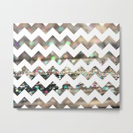 Afterparty Chevron Metal Print