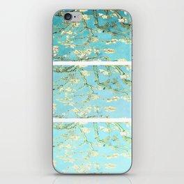 Vincent Van Gogh Almond Blossoms  Panel arT Aqua Seafoam iPhone Skin